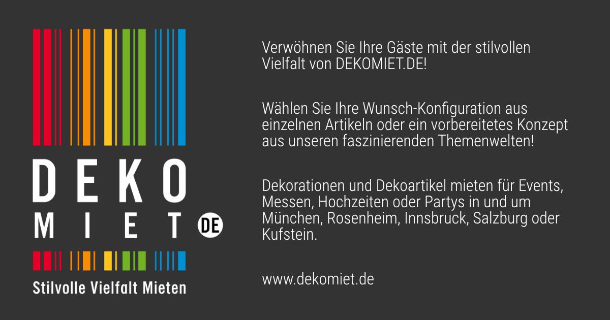 Dekoration Mieten In München Rosenheim Innsbruck Salzburg Kufstein